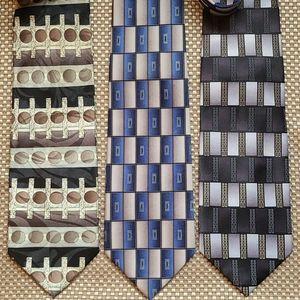 Set of 3 Bergamo New York neck ties 👔
